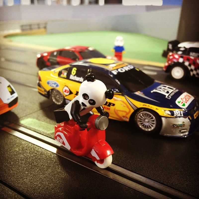 Lego minifigures make a move for the motor museum for National motor club phone number