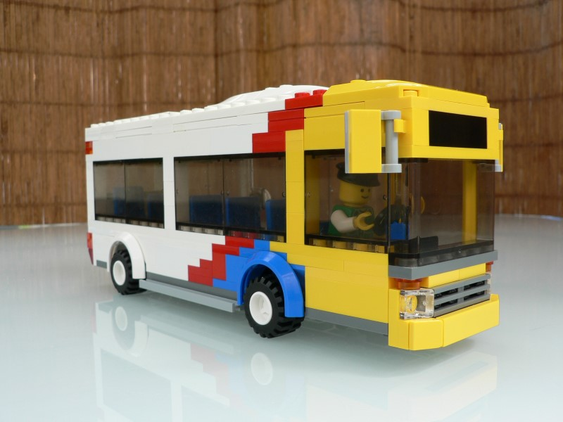 Side view of LEGO Adelaide Metro Bus