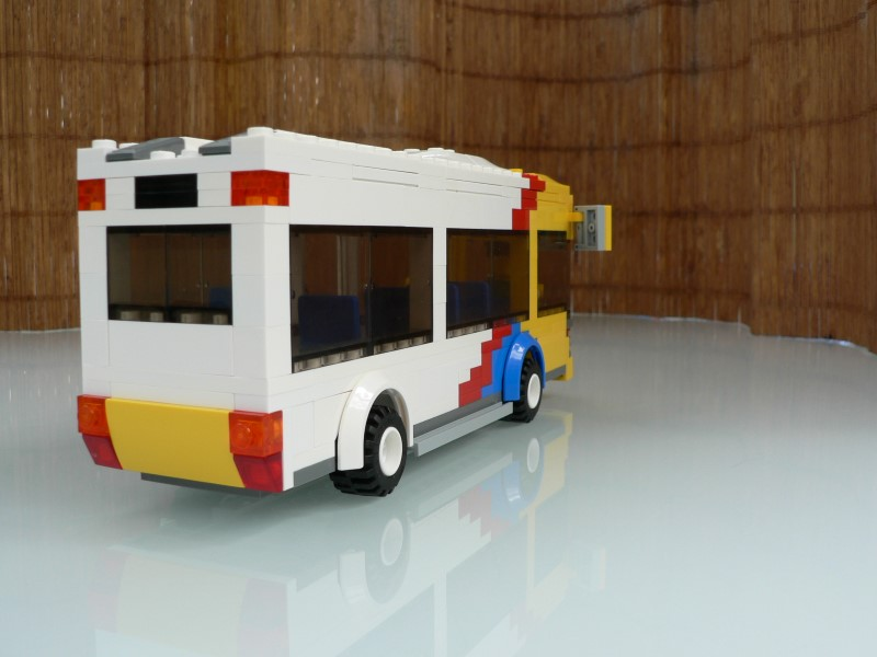 Rear view of LEGO Adelaide Metro Bus