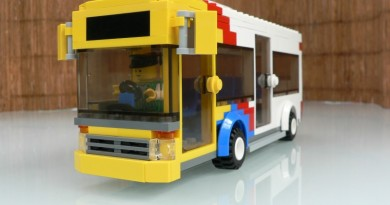 Front view of LEGO Adelaide Metro Bus