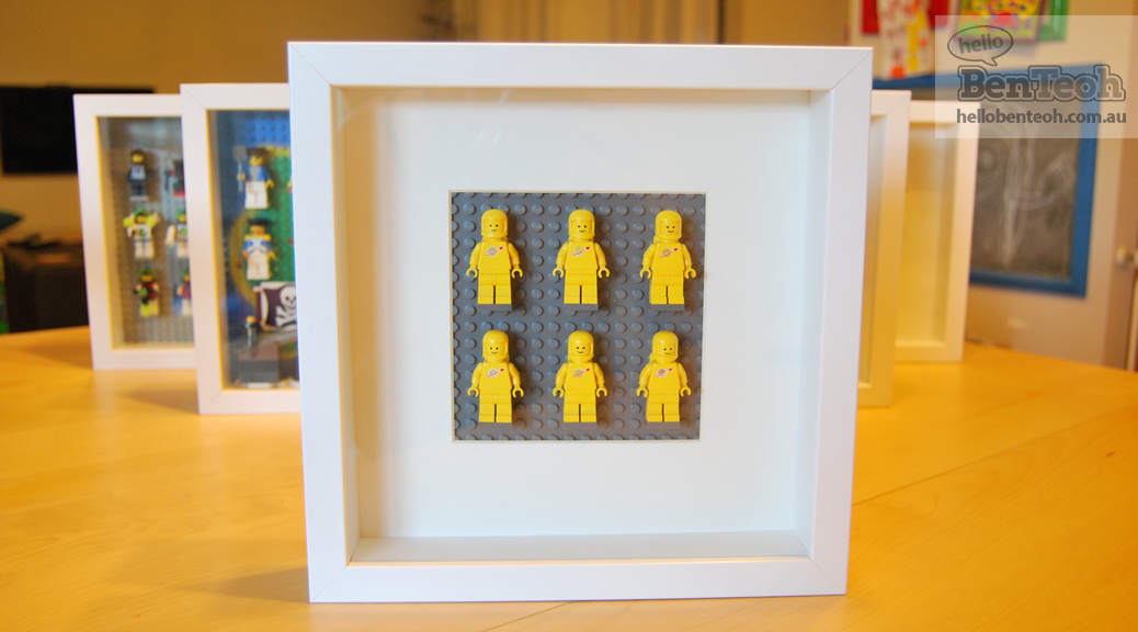 building a lego minifigure display with ikea ribba frames southern bricks. Black Bedroom Furniture Sets. Home Design Ideas