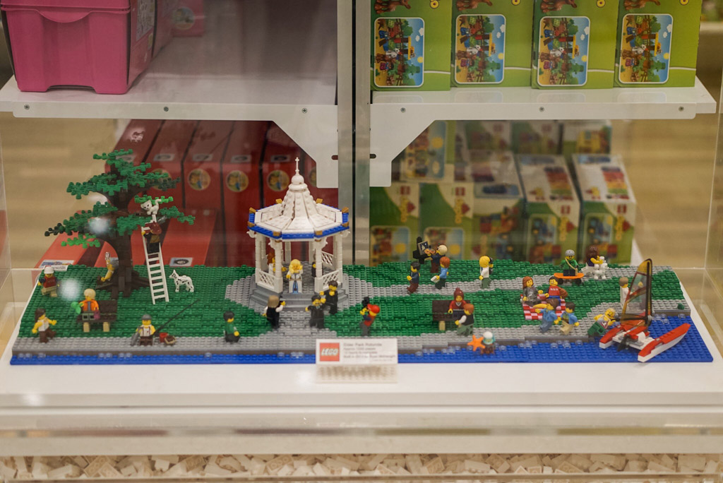 Elder Park rotunda scene LEGO display