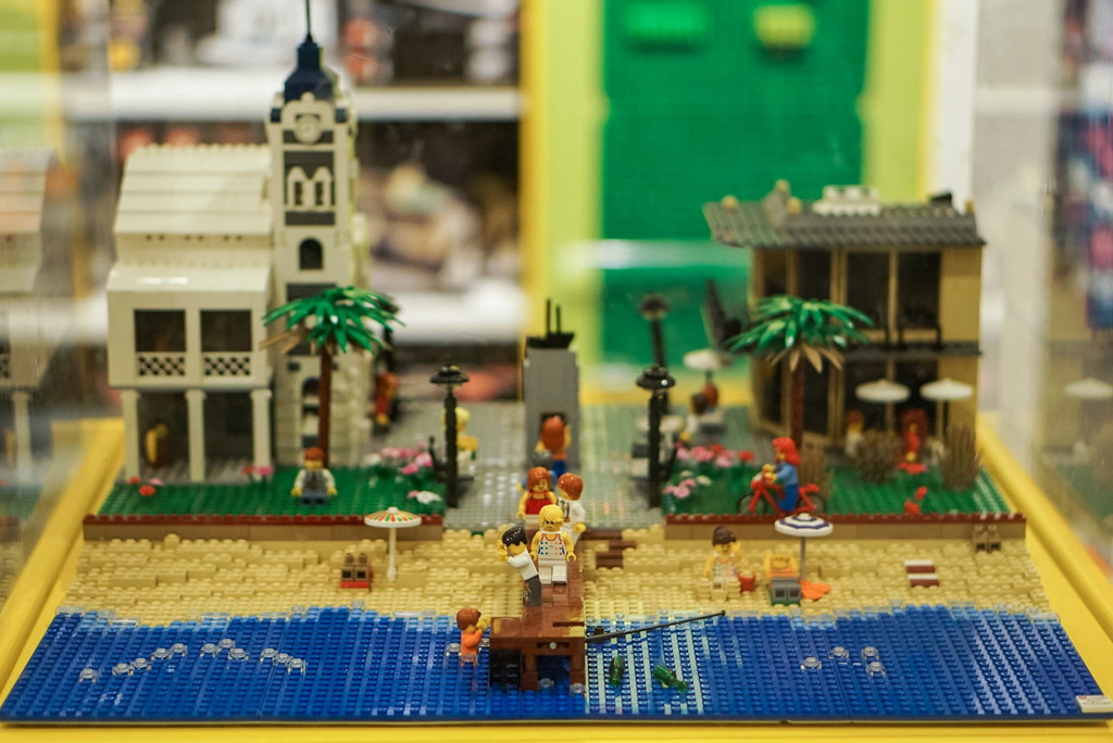 Moseley Square made of LEGO bricks in David Jones