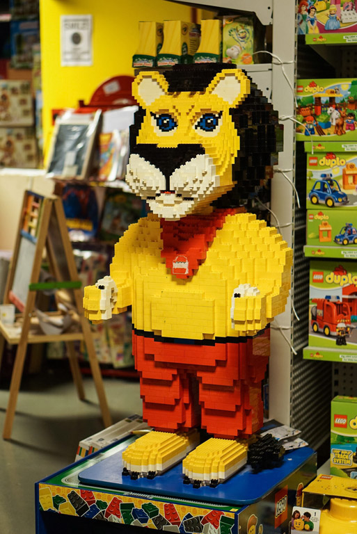 Lion made of LEGO bricks at Toy World