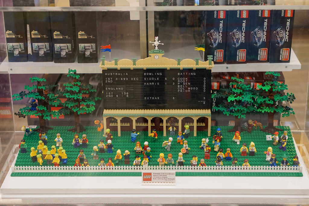 Adelaide Oval LEGO display in Myer