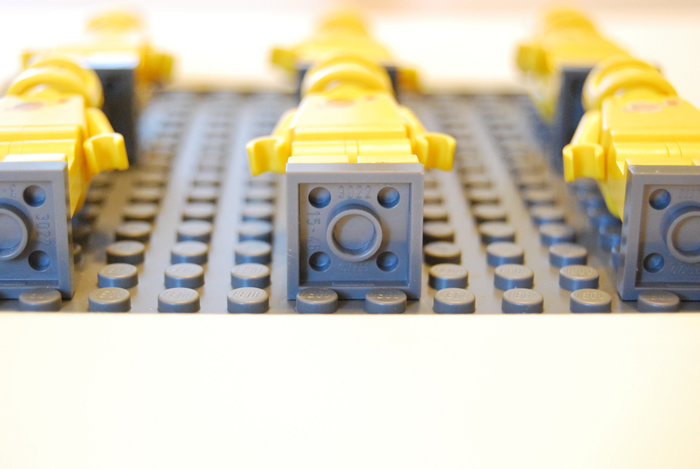 Building a LEGO minifigure display with IKEA RIBBA frames · Southern